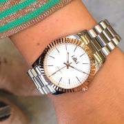 Zilveren Ikki Horloge Bronx